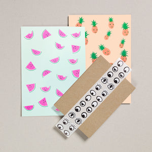 Writing Paper Set - Melons & Pineapples
