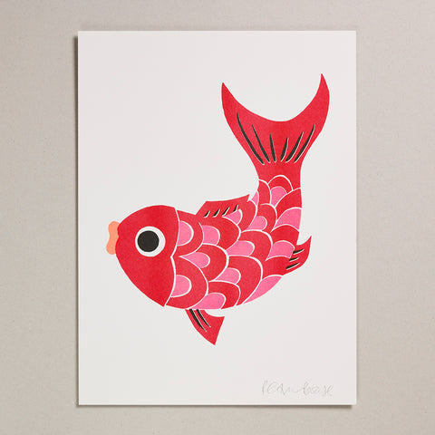 Risograph Print (300x400mm)  - Koi Fish