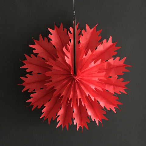Paper Fan - Red Spike