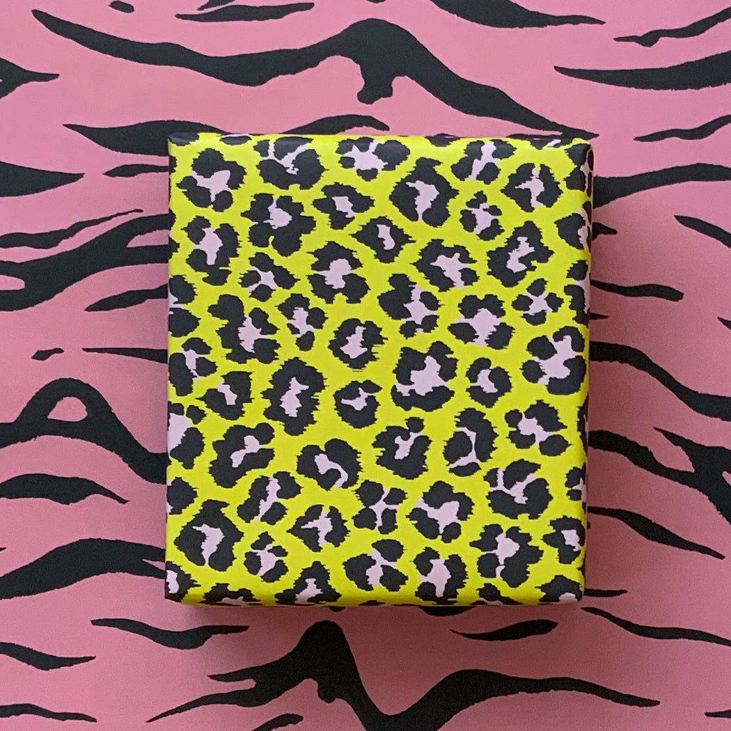 Wrapping Paper - Double-Sided - Yellow & Rose Pink
