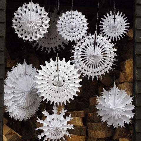 Pack of 10 Paper Snowflakes