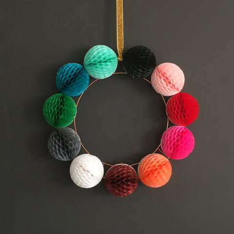 Paper Ball Wreath