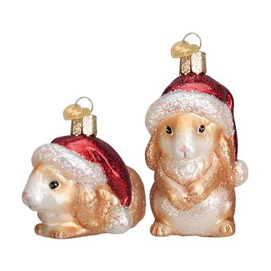 2 Assorted, Christmas Rabbits