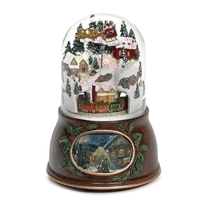 Musical Village with Train Snowglobe