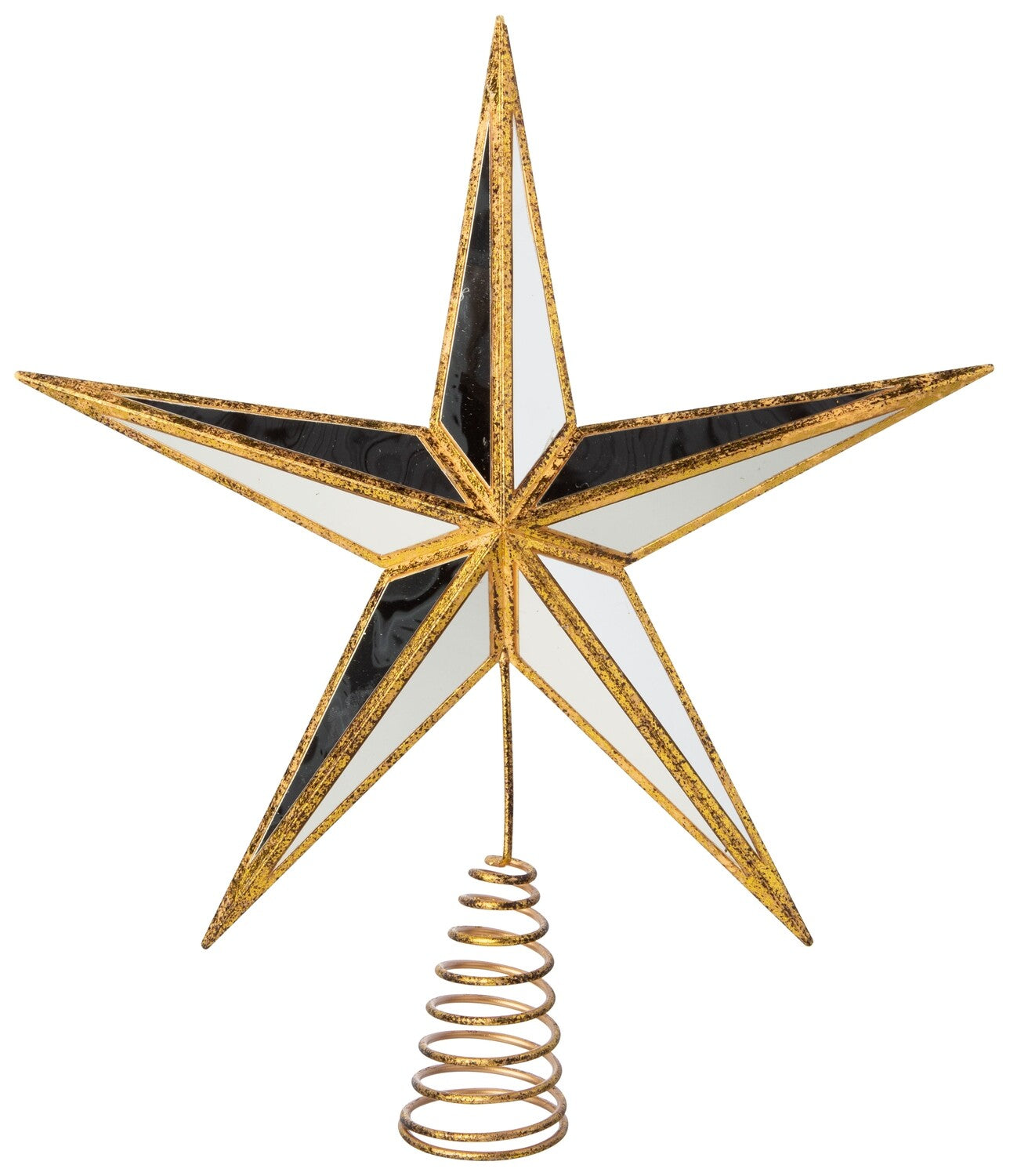 """""""Mirrored"""" Gold Star Tree Topper"""