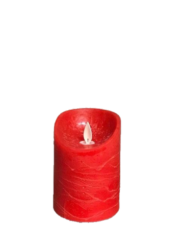 3x4 Flameless Pillar Candle In Red