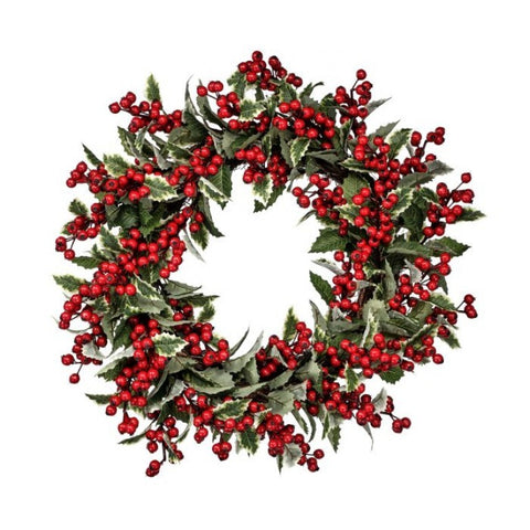 Variegated Holly Berry Wreath
