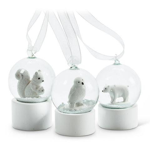 Assorted, Mini Animals Snowglobe Ornaments, INDIVIDUALLY SOLD