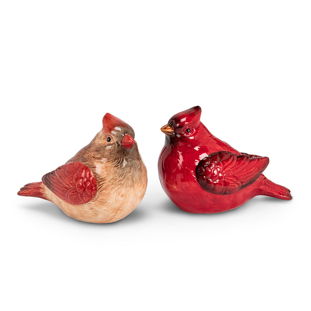 Male & Female Cardinal Salt & Pepper, Set of 2