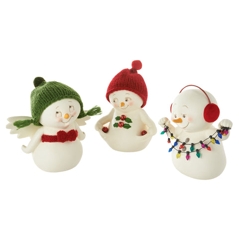3 Assorted, Christmas Prep Figurines