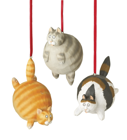 Assorted Fat Cat Ornaments, INDIVIDUALY SOLD