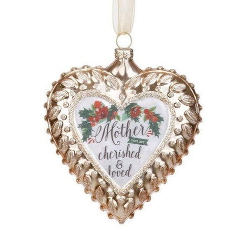 Mother Glass Heart Ornament