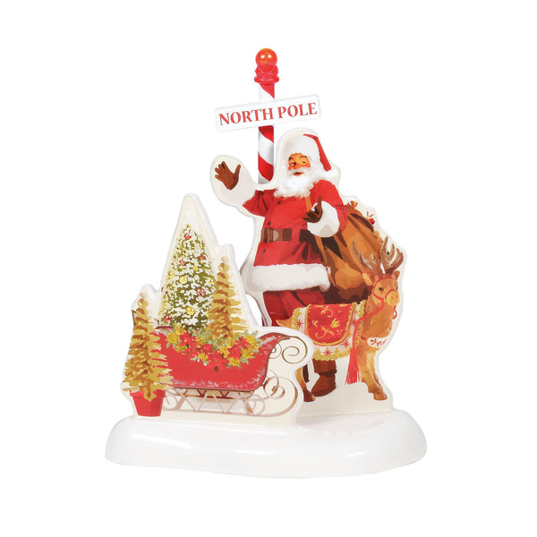 Snow Village: North Pole House, Set Of 2