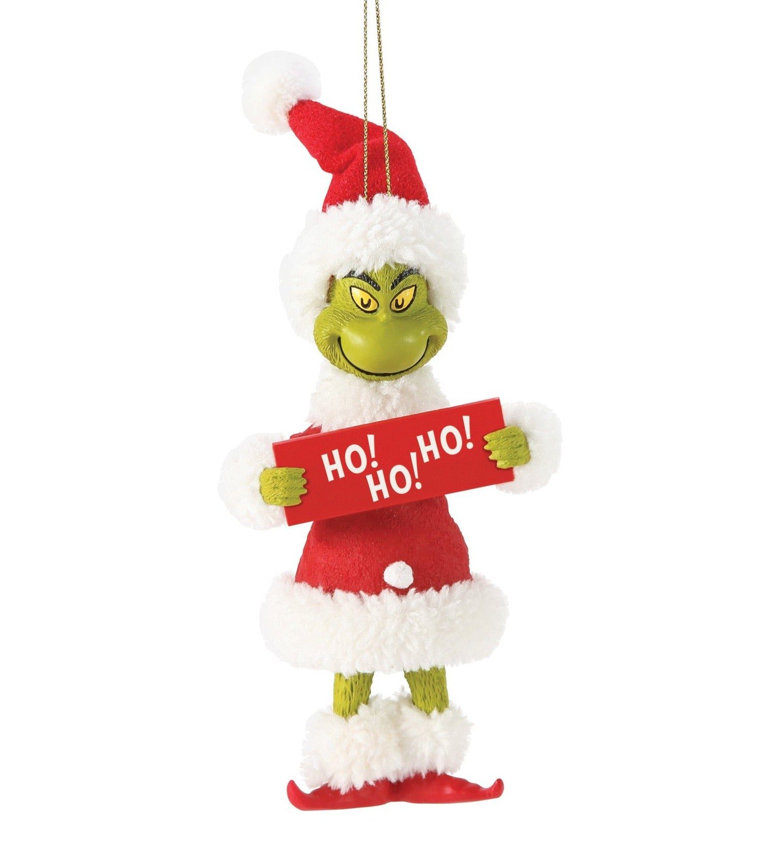 Grinch HO HO HO Ornament