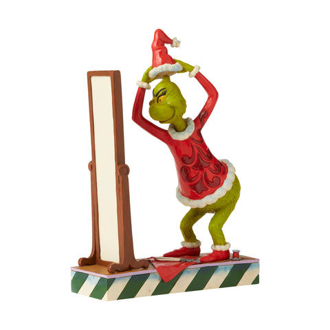 Grinch Dressing As Santa Figurine