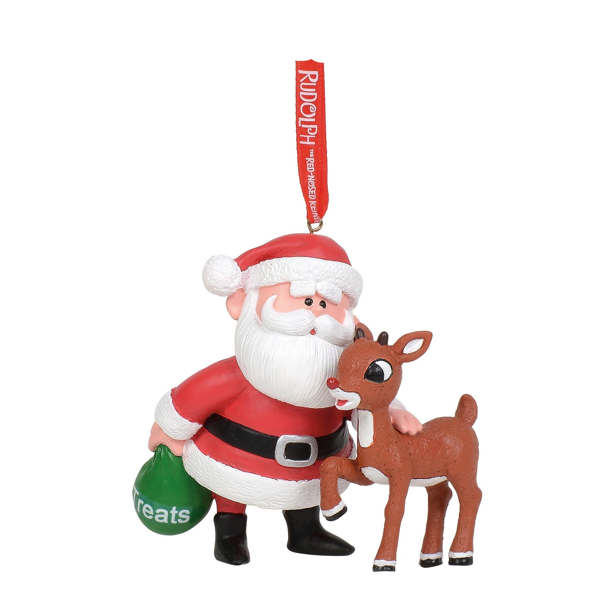 Rudolph and Santa Ornament