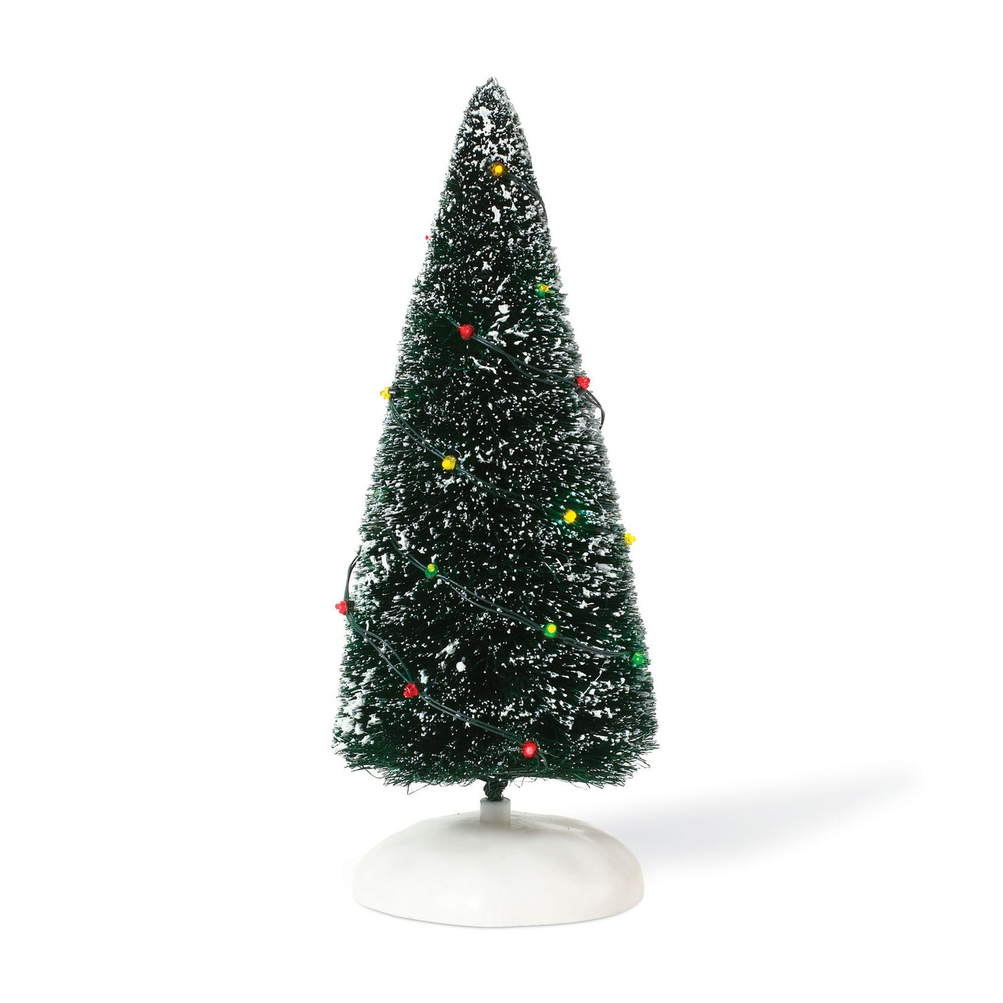 Village Accessory: Twinkle Brite Frosted Topiary