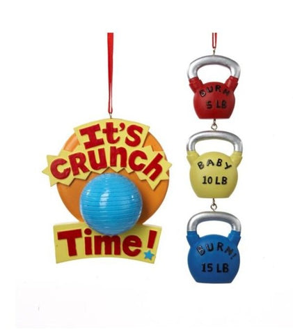 Kettle bell or Medicine Ball Workout Ornament