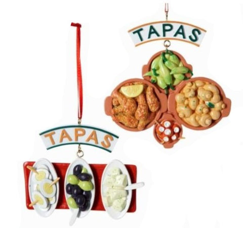 Assorted Tapas Plates Ornament