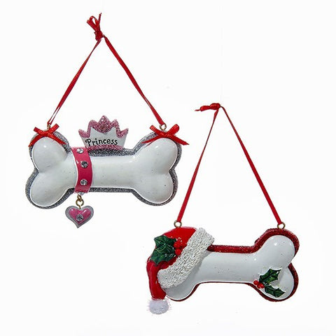 Assorted Dog Bone Ornaments, INDIVIDUALLY SOLD