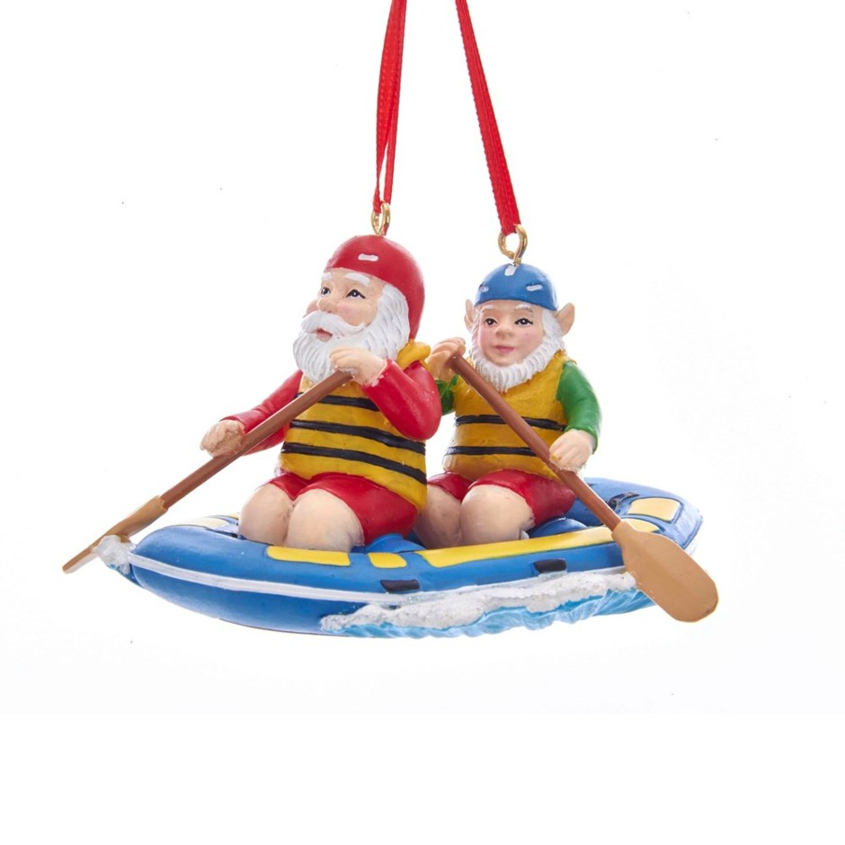 White Water Rafting Elves Ornament