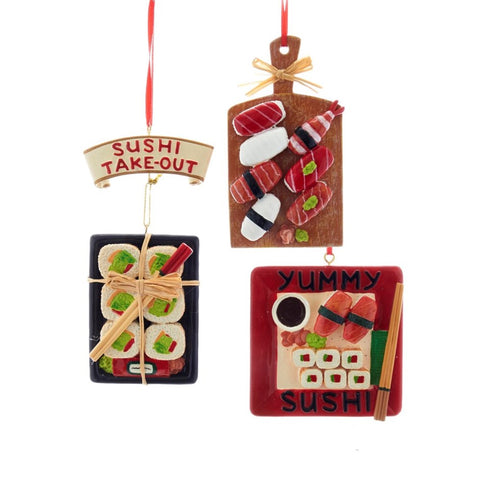 Assorted Sushi Plates Ornament