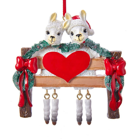Llama - Family of 2 Ornament