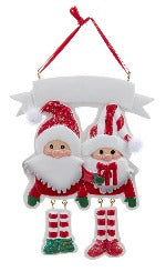 Santa & Mrs. Claus Dangle Legs Ornament