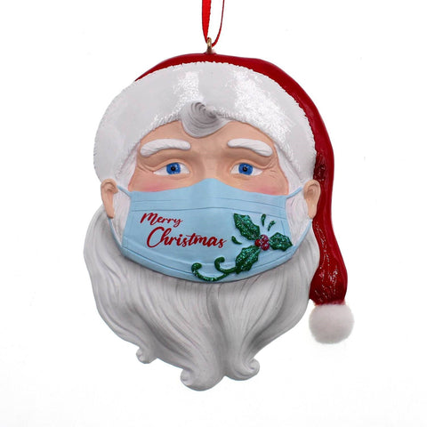 COVID Santa Face with Mask