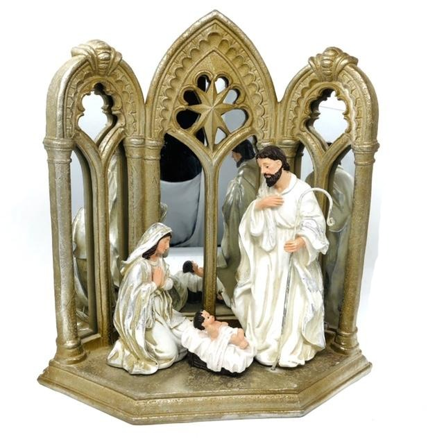 Holy Family Nativity with Mirrored Arch