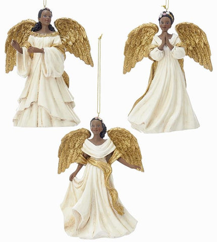 African Angels Ornaments, 3 Assorted