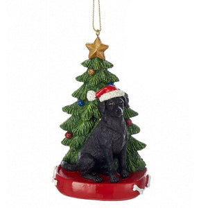 Dog & Tree Ornament Labrador Retriever