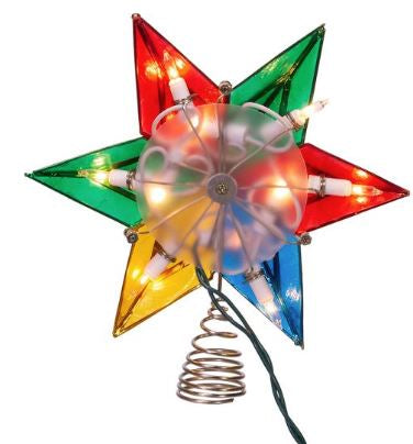 5-point Multicolor Capiz star