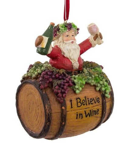 I Believe in Wine Ornament