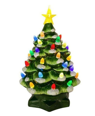 "10"" Ceramic Tree Green"