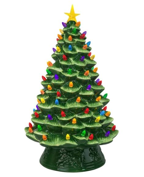 "18"" Ceramic Tree Green"