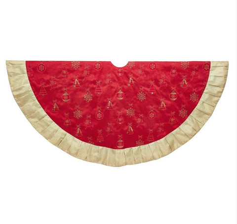 "60"" Red & Gold Tree Skirt"