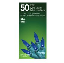 50 Blue Incandescent Mini Lights
