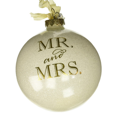 Mr. & Mrs. Glass Ball