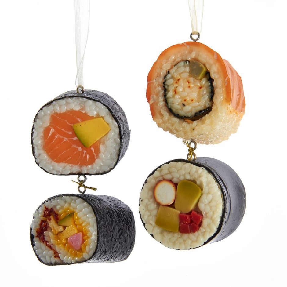 Assorted Dangle Sushi Rolls Ornament, INDIVIDUALLY SOLD