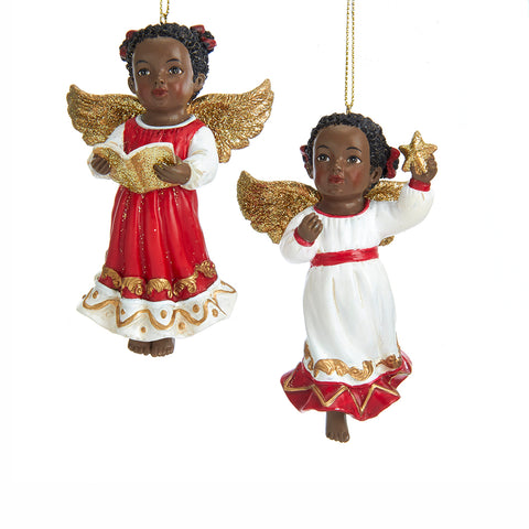 African Angels Ornaments, 2 Assorted