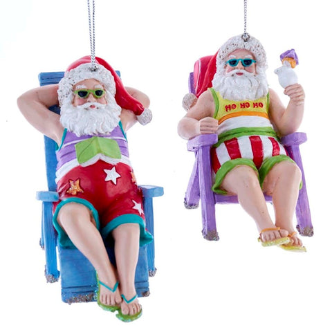 Assorted Sunbathing Santas, INDIVIDUALLY SOLD