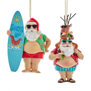 Assorted Beach Belly Santa, INDIVIDUALLY SOLD