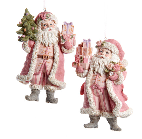 2 Assorted Pink Santas, INDIVIDUALLY SOLD