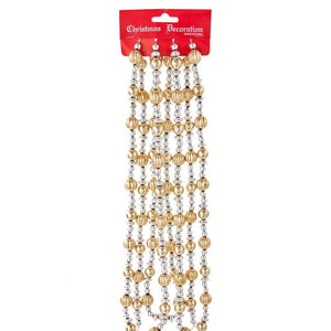 9' Gold & Silver Beaded Garland