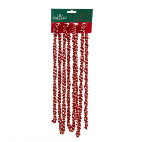 9' Red & Gold Twisted Garland