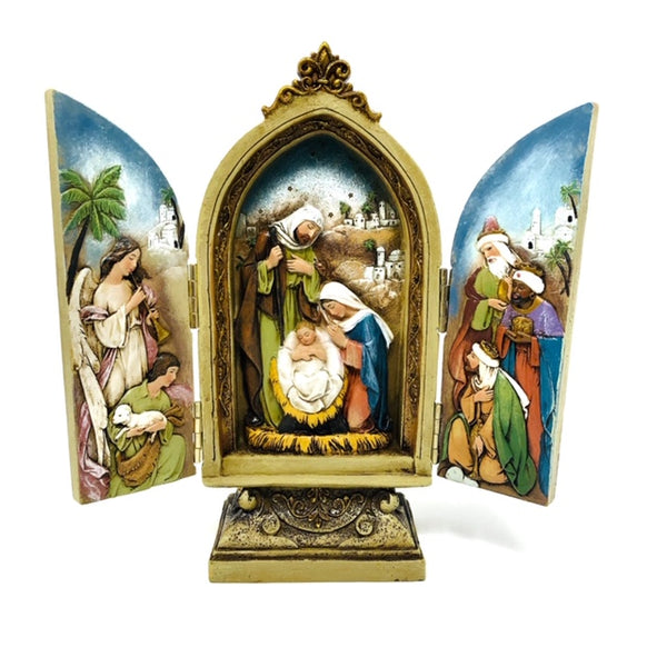 Nativity Scene Triptych Gate fold