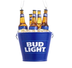 Budweiser Bud Light Beers in Bucket Ornament