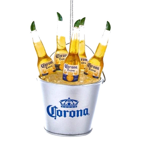 Corona Beers in Bucket Ornament