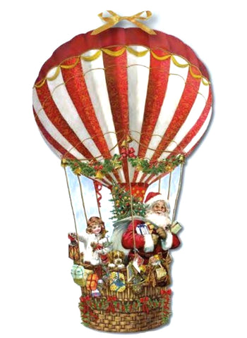 Hot Air Balloon Paper Victorian Advent Calendar